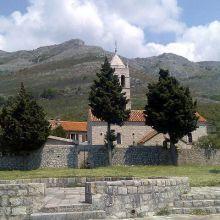 Терраса древнего монастыря Режевичи с видом на море
