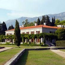 Территория отеля Áman Sveti Stefan's Villa Miločer, бывшей королевской резиденции