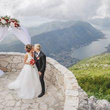 Свадьба на горе Ловчен, панорамная круглая площадка
